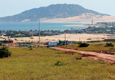 Mặt bằng để xây dựng nhà máy điện hạt nhân Ninh Thuận 1 tại huyện Hàm Thuận Nam đã được chuẩn bị sẵn sàng.