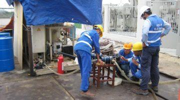 Tiếp tục làm đầu cáp 110kV tại công trường BRIDGESTONE